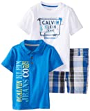 Calvin Klein Baby-Boys Infant Polo Top with Tee and Short