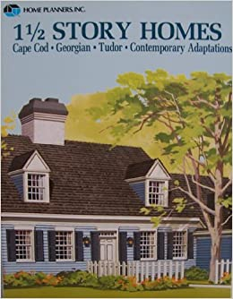 Home planners inc 1 1 2 story homes cape cod georgian for Two story cape cod