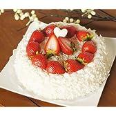 【ノーブランド品】 本物 そっくり イチゴ 生クリーム ホール ケーキ 食品サンプル ディスプレイなどに