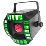 CHAUVET DJ Cubix 2.0 LED Derby/Moonflower Stage Light | Special Effects (Color: Black)
