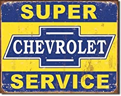 Super Chevy Service Tin Sign 16&quot;W x 12.5&quot;H