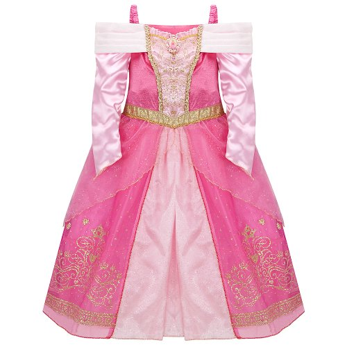 Disney Store Princess Aurora (Sleeping Beauty) Costume Dress for Girls Size XS 4