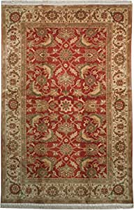 Red 6x9 kitchen dining room new traditional for Living room rugs 6x9