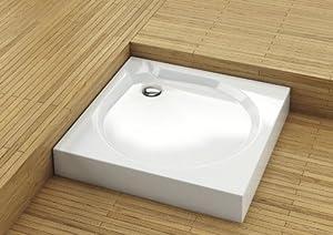 Duschwanne Duschbecken Duschtasse Acryl weiss 90x90cm 900 x 900mm mit 90er Siphon Schürze und Füßen flach  BaumarktKundenbewertung: