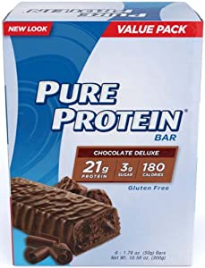 Pure Protein Chocolate Deluxe Value Pack,6 Count 50 Gram Bars (Pack of 2)