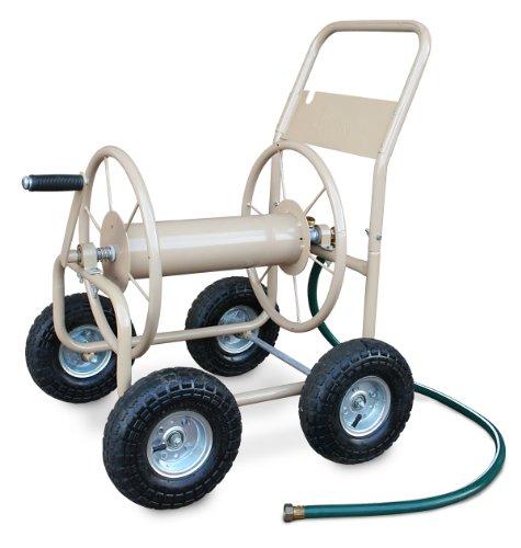 Liberty Garden Products 870-M1-2 Industrial 300 - 4 Wheel Garden Hose Reel Cart - Tan