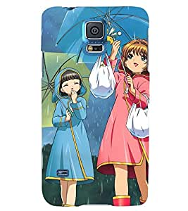 Printvisa Rainy Day With Friends Back Case Cover for Samsung Galaxy S5 G900i::Samsung Galaxy S5 i9600::Samsung Galaxy S5 G900F