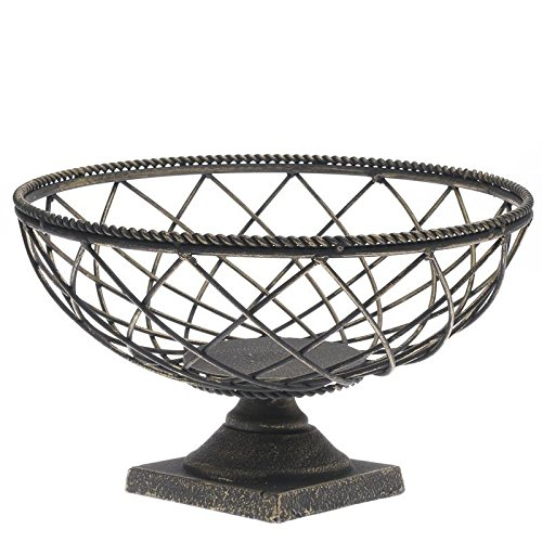 Factory Direct Craft® Decorative Metal Black and Gold Mesh Pedestal Compote Bowl for Artificial Florals and Home Decor (Centerpiece Pedestal Bowl compare prices)