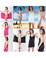 Probache - Pareo Robe de Plage modulable taille universelle Rose