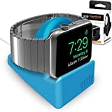 Orzly® Night-Stand for Apple Watch - BLUE Support Stand with Slot for Concealing your Charging Cable (Grommet Charger and Cable not included)