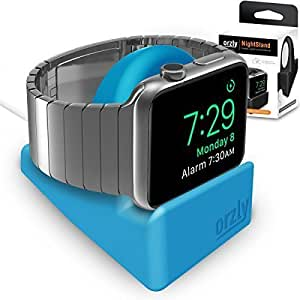 Orzly Night Stand for Apple Watch BLUE Support Stand with Slot for Concealing your Charging Cable