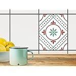 Dekor-Fliesen, Badfliesen | Fliesentattoo Küche Bad ergänzend zu Kühlschrankmagnet Wandtattoo | 20x25 cm Design Motiv Ornament Light 4 - 1 Stück
