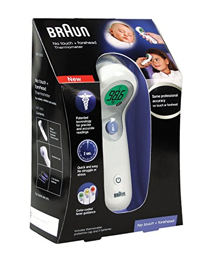 Braun Ntf3000Us Braun No Touch Plus Forehead Thermometer, Twin Pack (2 Thermometers)