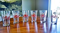 New Belgium Fat Tire Pint Glass Set of 6