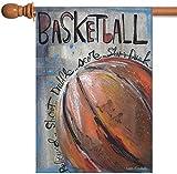 """Toland Home Garden Basketball Decorative Sport/Game Garden Flag, 12.5"""" by 18"""""""