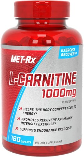 MET-Rx  L-Carnitine 1000mg Diet Supplement Capsules, 180 Count