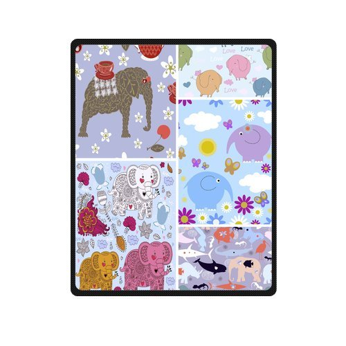 "Seamless Pattern Made Of Classic Elephants Custom Blanket 40""X 50""(Small) front-772633"