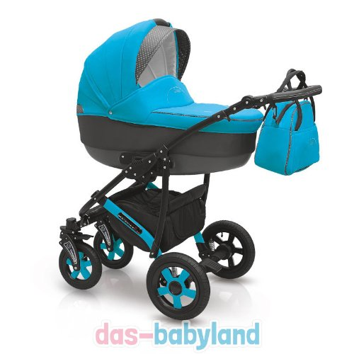 Camarelo Carera 3-in-1 Combination Pushchair with Carry Cot