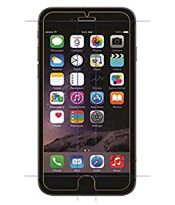 VJOY Antishock Tempered Glass Screen Protector for Apple iPhone 6 (Pack of TWO Front Transparent Screen Protector) Coated with HYDROPHOBIC and OLEOPHOBIC Clear Layer, the glass protects against sweat and oil residue from fingerprints and keep your phone screen pristine all day long. Virtually invisible - 99.9% Ultra Crystal Clear. Precise laser cut tempered glass, exquisitely polished, 2.5D round edges.