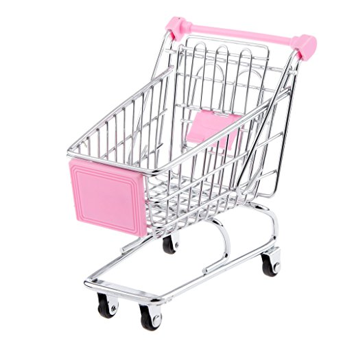 Imported Mini Shopping Cart Trolley Toy Size M Yellow - B01HTIE1KU