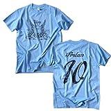 RE-TAKE ウルグアイ代表Tシャツ Viva La Celeste ディエゴ・フォルラン (M)