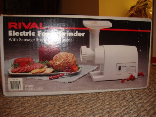 Rival 2250 Electric Food Grinder With Sausage Stuffer Attachment, 220-Volt