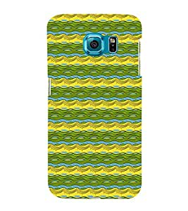 Waves Pattern 3D Hard Polycarbonate Designer Back Case Cover for Samsung Galaxy S6 Edge :: Samsung Galaxy Edge G925
