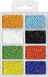 Rocailles Mini-Glasperlen 2,5mm Opak 60g 8 Farben