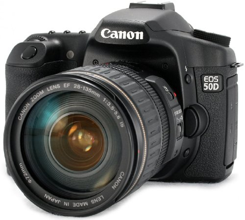 Canon EOS 50D 15.1 MP Digital SLR Camera Kit (Black)