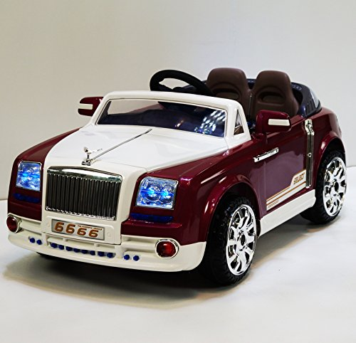 Phant6666 red Luxury Edition Rolls Royce Phantom Style Ride-on Car for Kids 2-7 years old with Remote Control (Rolls Royce For Kids compare prices)