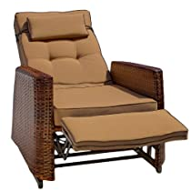 Big Sale Best Selling  PE Wicker Outdoor Recliners, Pack of 2