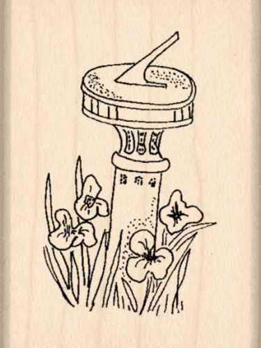 Sundial Rubber Stamp - 1-1/2 inches x 2 inches (Dial Rubber Stamp compare prices)