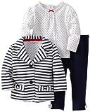Little Me Baby-girls Infant Stripe 3 Piece Jacket Set