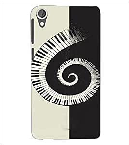 PrintDhaba Piano Pattern D-4466 Back Case Cover for HTC DESIRE 820 (Multi-Coloured)