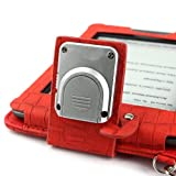 Aquarius ® Book Lighter Leather Case with LED Light for Amazon Kindle Touch and Touch 3G - Red