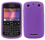 ITALKonline Purple Slim Grip Rubber Silicone Case Soft Skin Cover For BlackBerry 9360 Curve