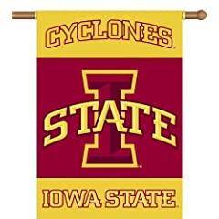 Buy NCAA Iowa State Cyclones 2-Sided 28-by-40 inch House Banner with Pole Sleeve by BSI
