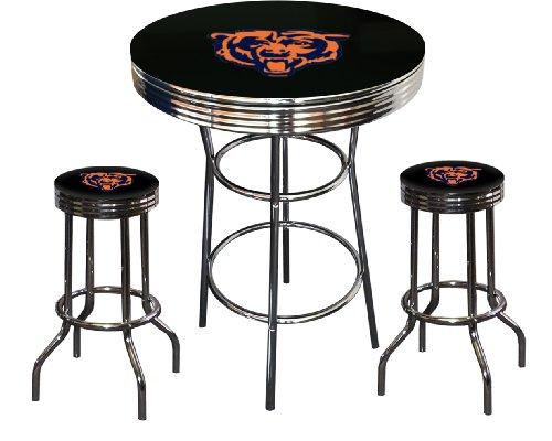 Where To Buy Chicago Bears Logo Themed 3 Piece Chrome