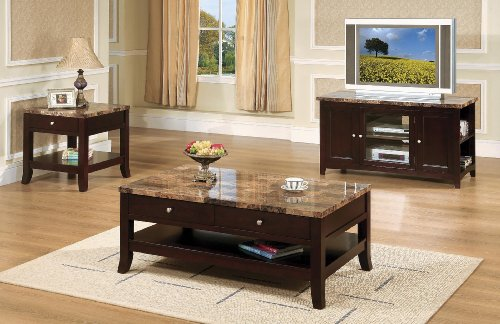 Image of Casual Contemporary Mocha Storage End Table (T419E)