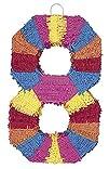 Multicolor Number 8 Pinata