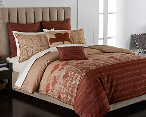 California Poppy 3-Pc Modern Comforter Sham Set