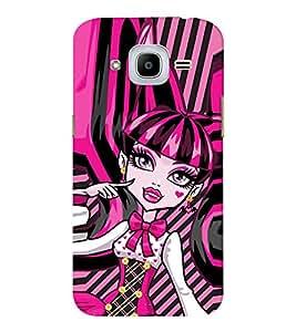 EPICCASE pinky girl Mobile Back Case Cover For Samsung J2 2016 (Designer Case)