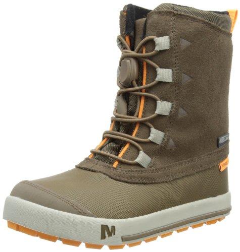 Merrell-SNOW-BANK-WATERPROOF-KIDS-Jungen-Trekking-Wanderstiefel-Braun-CHOCOLATE-CHIP-34-EU
