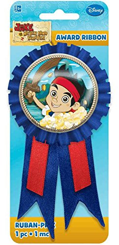 DesignWare Amscan AMI 211288 Jake and The Neverland Pirates Confetti Pouch Award Ribbon for Party