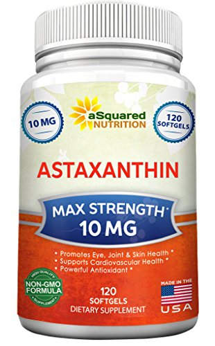 Pure Astaxanthin Supplement (Max Strength 10mg, 120 Softgels) - Powerful Antioxidant Pills from Haematococcus Pluvialis Extract - Natural Astaxanthin to Promote Eye, Joint, Skin, and Heart Health (Haematococcus Pluvialis Extract compare prices)