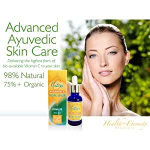Ayurveda Skin Care: We Want Young Healthy Skin. Not Plump Skin! Young Skin Has No Toxins| No Teeth or Sinus Toxins Either| Young Skin=Deep Deeply Detoxed Skin=Collagen Regeneration From the Ground up =No Wrinkles| blemish| 18%VitC Serum| Hyaluronic Acid| 98%Natural| Awesome Ayurveda