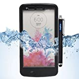 LG G3 Case, Sophia Shop LG G3 Full-body Protective Waterproof Case, Slim Fitted [IP-68 6.6 ft Underwater Waterproof] [Shock Proof] [Dust Proof] [Dirt Proof] [Snow Proof] Hard Shell Triple Layer with Built-in Kick-Stand Armor Cover Case for LG G3 D850 D85 D855 VS985 LS990 Carrier Compatibility AT&T, Verizon, T-Mobile, Sprint, And All International Carriers with Retail Packing (Black)