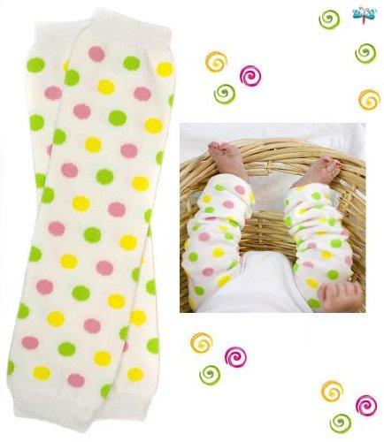 #6 Spring Polka Dot baby girl leg warmers by My Little Legs