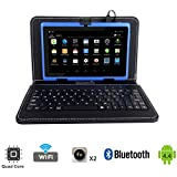 "Tagital® T7X 7"" Quad Core Android 4.4 KitKat Tablet PC, Bluetooth, Dual Camera, Play Store Pre-installed, 2016 Newest Model Bundled with Keyboard Blue video review"