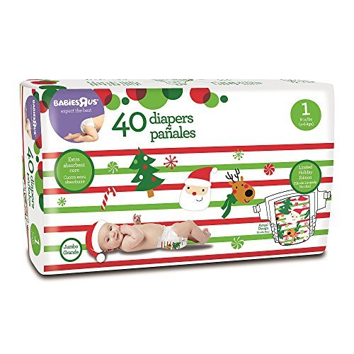 Babies R Us Brand Holiday Diaper Size 1 - 40 Count - 1